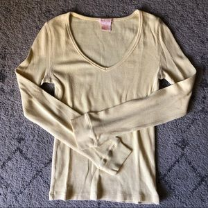 Sweet Romeo Super Soft Waffle Knit Thermal Top